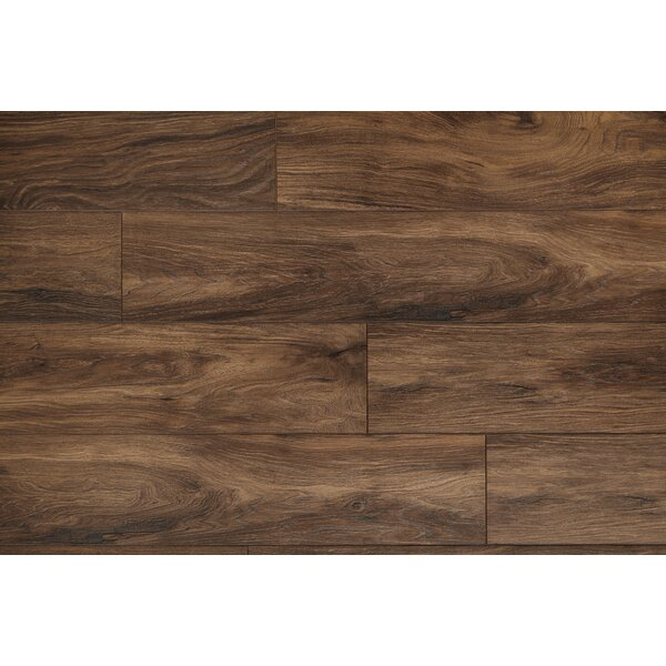 Restoration Wide Plank 8'' x 51'' x 12mm Laminate Flooring in Earth by Mannington