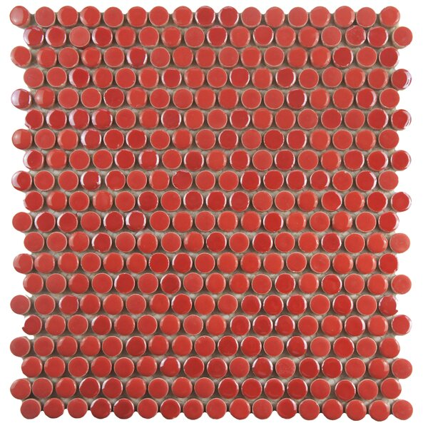 Tucana 0.59 x 0.59 Porcelain Mosaic Tile in Red by EliteTile