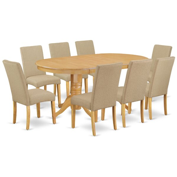 Kyriakos 9 Piece Extendable Solid Wood Dining Set by Winston Porter Winston Porter
