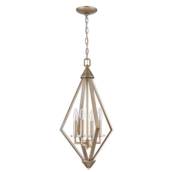 Hunnewell 4 - Light Unique / Statement Tiered Chandelier with Crystal Accents by Rosdorf Park Rosdorf Park
