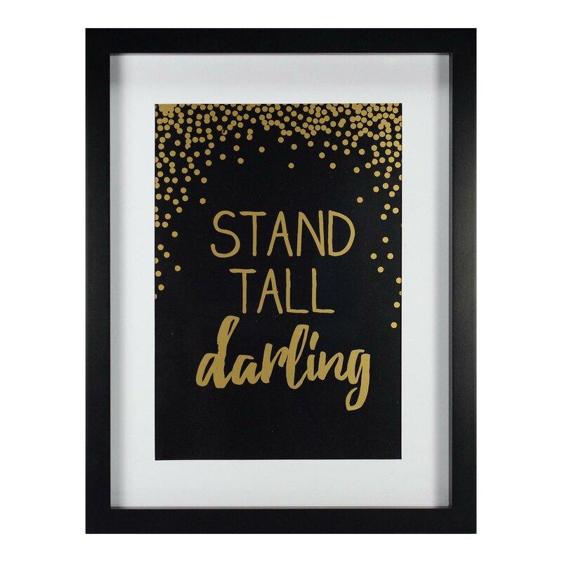 Brayan Stand Tall Framed Paper Print