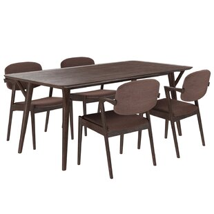 Mid-Century 5 Piece Dining Set By Modway