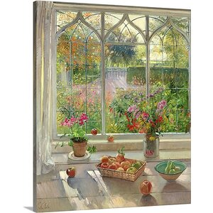 Autumn Fruit and Flowers, 2001 by Timothy Easton Painting Print on Canvas by Canvas On Demand