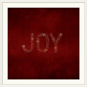 'Joy Starburst Red' Textual Art