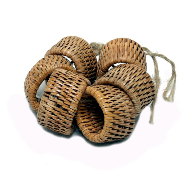 Rattan Oval Napkin Ring (Set of 6) by artifacts trading
