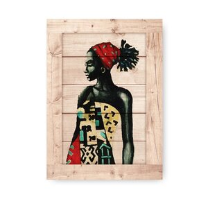 'African Culture' Framed Print on Wood by World Menagerie