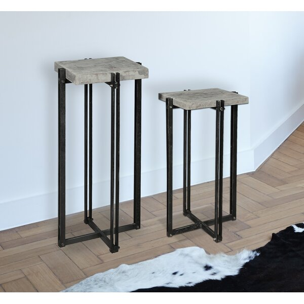 CalceFerro End Table (Set of 2) by Empire Art Direct