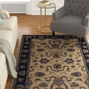 Bovill Oriental Hand-Tufted Wool Black Area Rug ByCanora Grey
