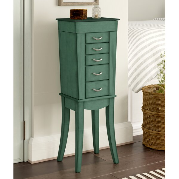 Mcbrayer 5 Drawer Jewelry Armoire- Sea Green by August Grove