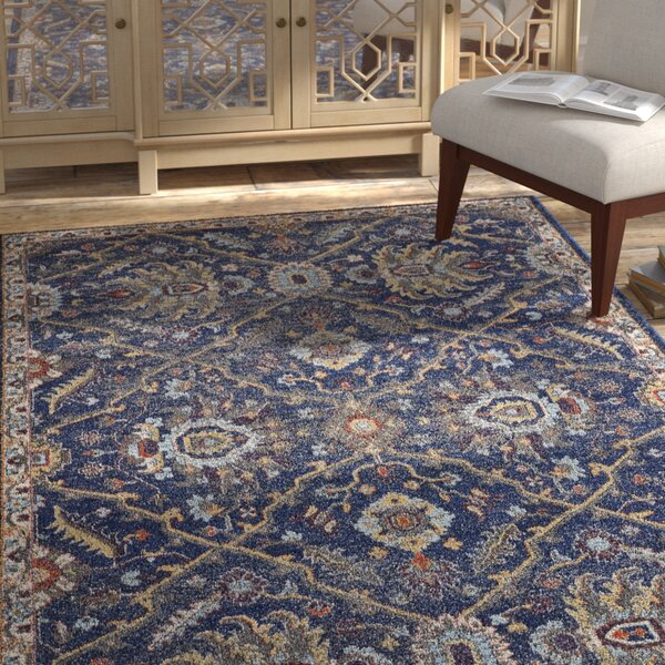 Cruce Royal Navy Area Rug by Bungalow Rose