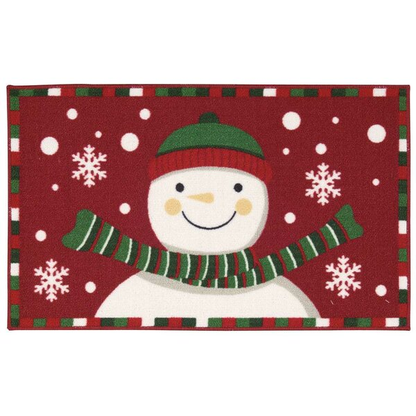 Doyers Red/Green Area Rug by The Holiday Aisle