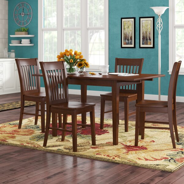 Balfor 5 Piece Extendable Solid Wood Breakfast Nook Dining Set by Andover Mills Andover Mills