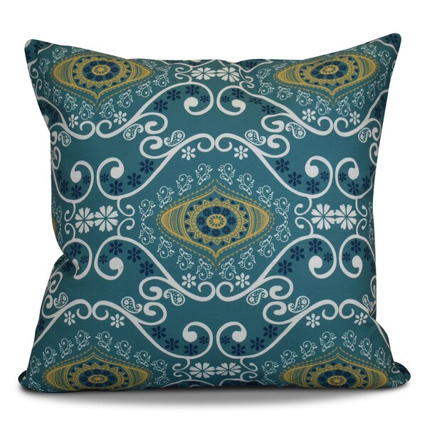 Soluri Illuminate Geometric Outdoor Throw Pillow by Bungalow Rose