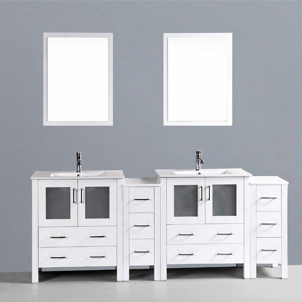 Netto 84 Double Sink Bathroom Vanity Set with Mirror by Ebern Designs