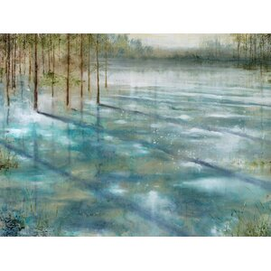 'Water Trees' Framed on Canvas by Three Posts