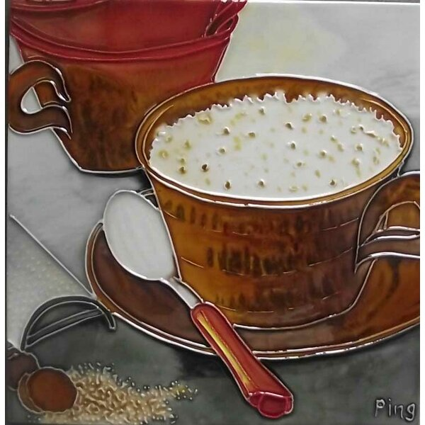 Coffee with A Spoon Tile Wall Decor by Continental Art Center