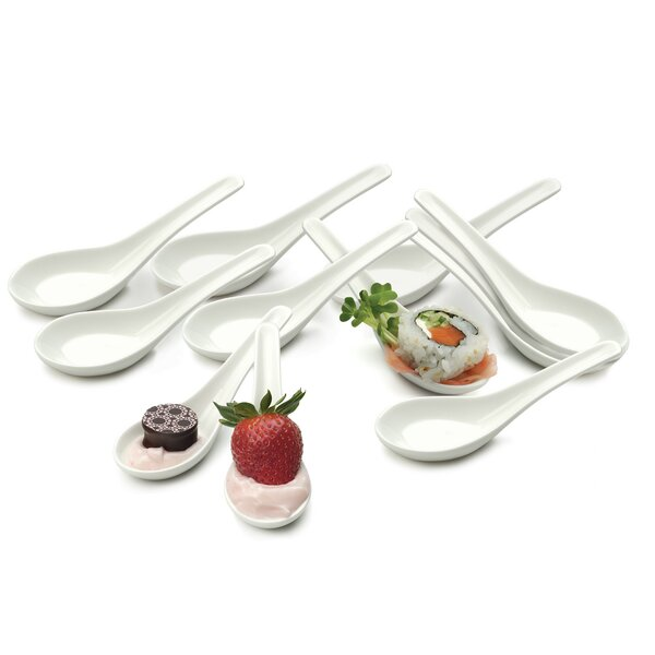 Offerman Porcelain Soup Spoon (Set of 12) by Mint Pantry