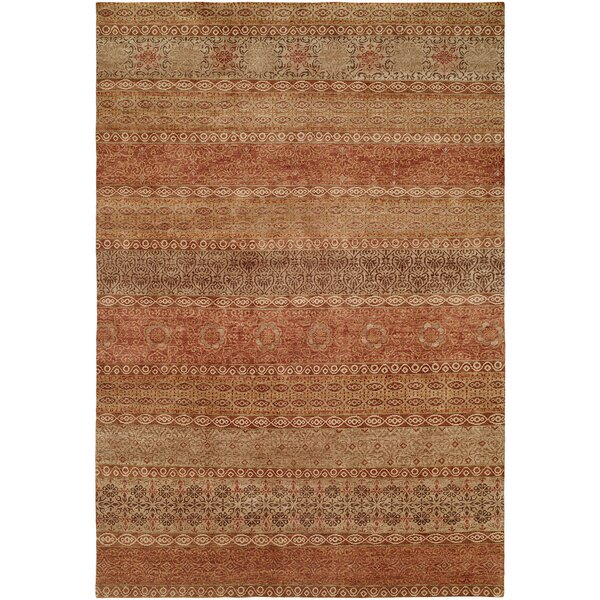Ottinger Hand-Knotted Wool Red/Brown Area Rug
