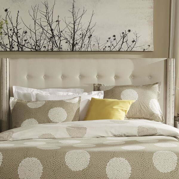 Tramel Upholstered Wingback Headboard by Three Posts
