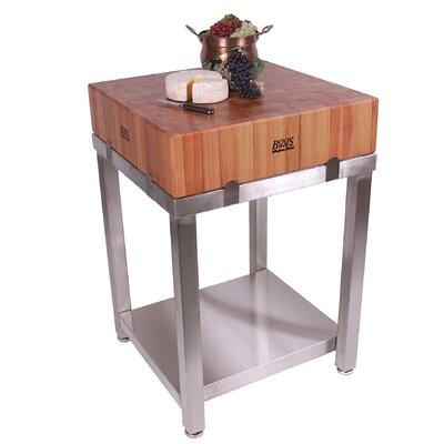 John Boos Cucina Americana Butcher Block Prep Table Base & Reviews ...