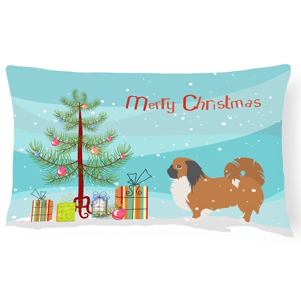 Pekingese Indoor/Outdoor Lumbar Pillow by The Holiday Aisle