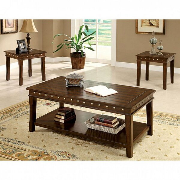 Dolan 3 Piece Coffee Table Set by Millwood Pines