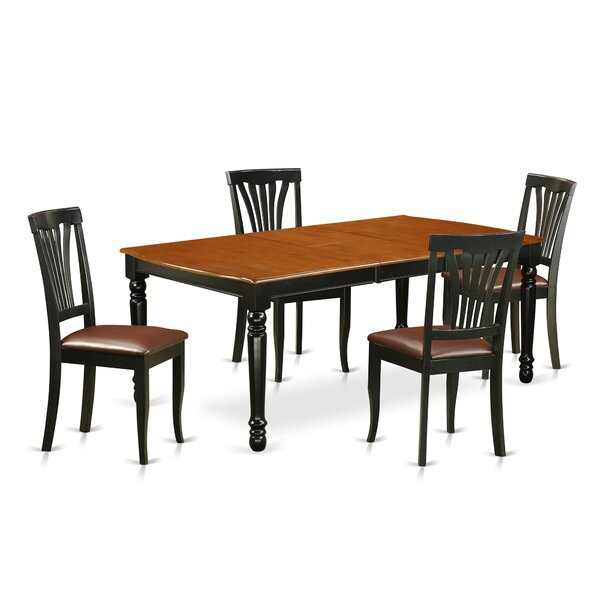 Modern  Pimentel 5 Piece Solid Wood Dining Set By August Grove Purchase
