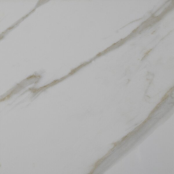 Pietra Calacatta 18 x 18 Porcelain Field Tile in White by MSI