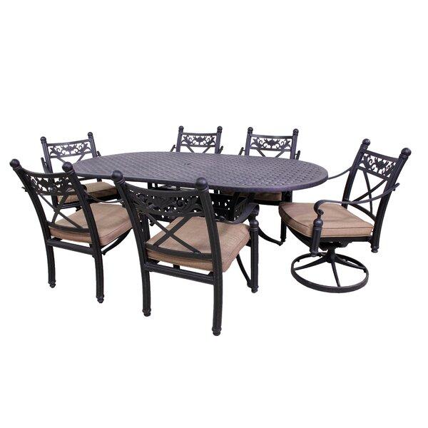 Schleicher 7 Piece Oval Dining Set by Fleur De Lis Living