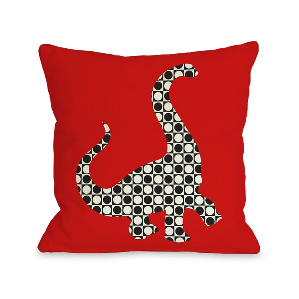 Camasaurus Throw Pillow by One Bella Casa