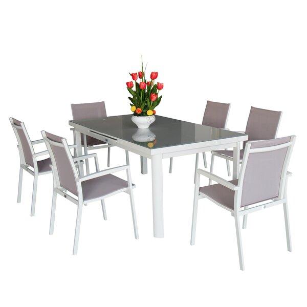 Aluminum 7 Piece Dining Set by Magari
