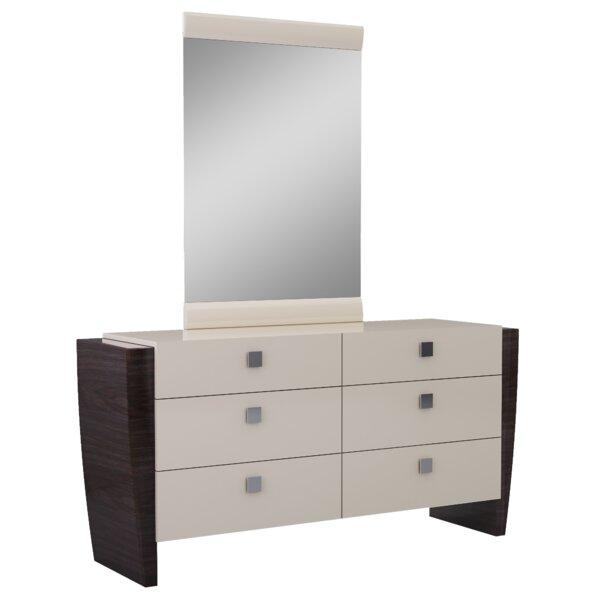 Hailee 6 Drawer Double Dresser with Mirror by Orren Ellis