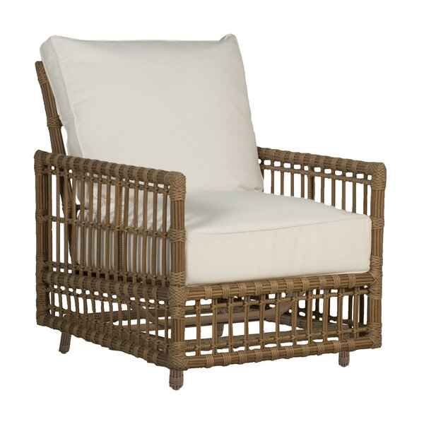 Newport Woven Patio Chair with Cushions by Summer Classics