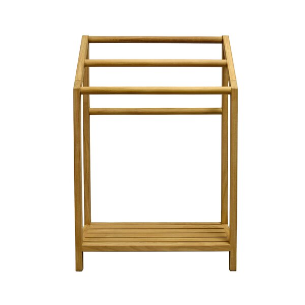 Spa Teak Free Standing Towel Stand by Asta Furniture, Inc.