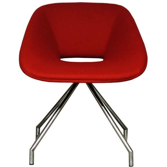 Red Swivel Eco Leather Side Chair by B&T Design