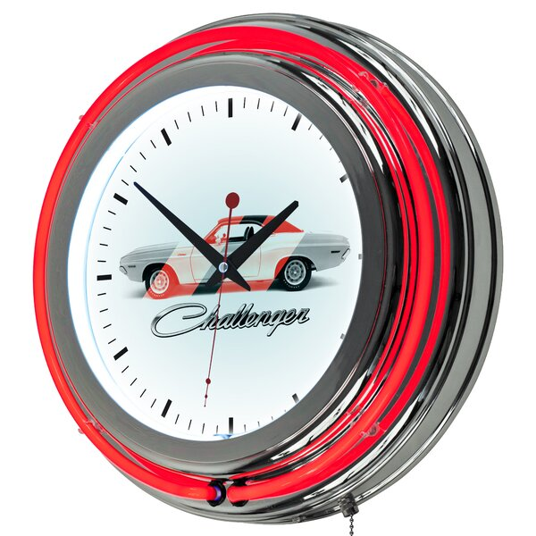 Dodge Challenger Neon 14.5 Wall Clock by Trademark Global