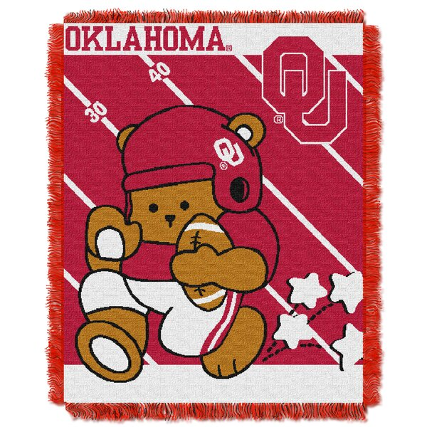 Collegiate Oklahoma Baby Throw by Northwest Co.