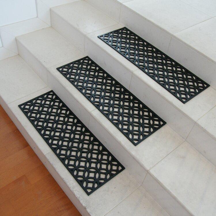Exceptional Azteca Indoor Outdoor Stair Tread Rubber Step Mat Set