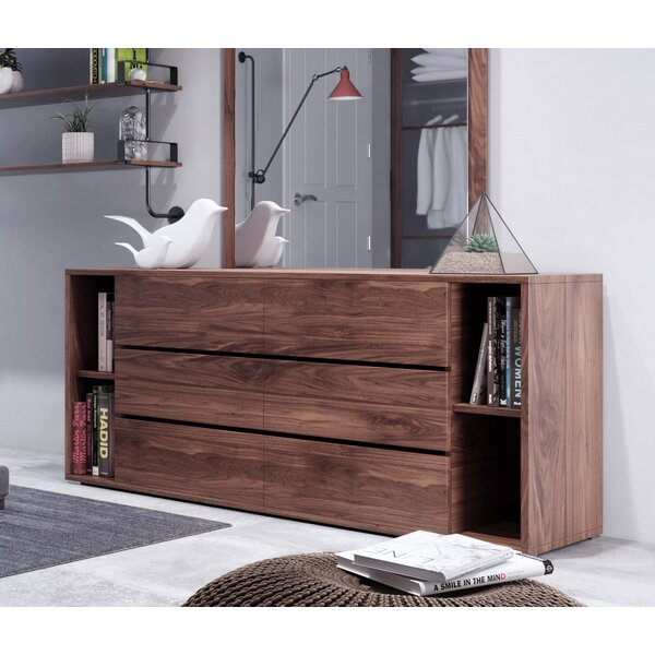 Defalco 6 Drawer Double Dresser by Foundry Select