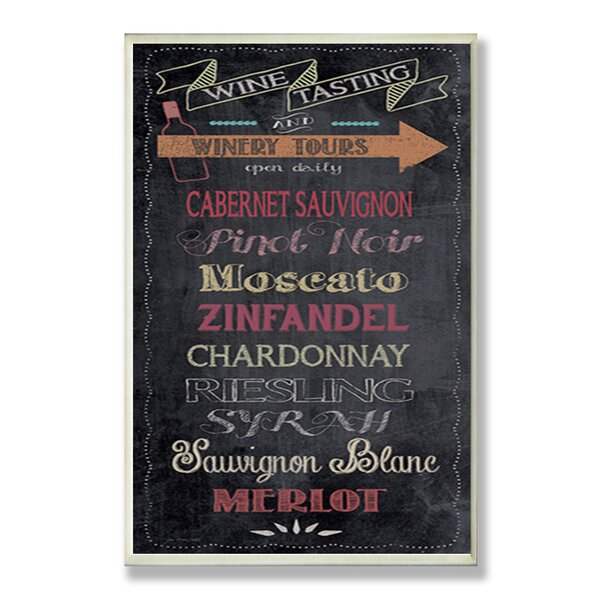 Wine Tasting Chalkboard Look Textual Art Wall Plaque by Stupell Industries