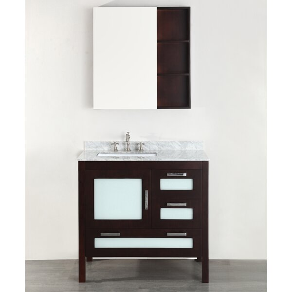 Westminster 37 Single Bathroom Vanity Set with Mirror by Bosconi