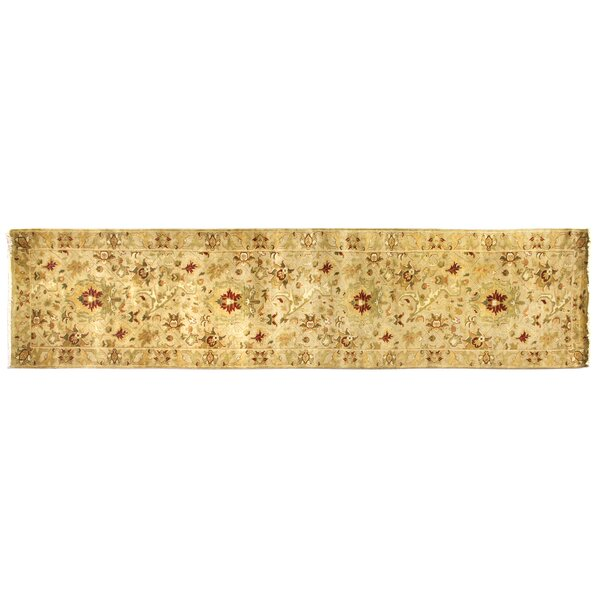 Agra Hand-Knotted Wool Ivory Area Rug by Exquisite Rugs