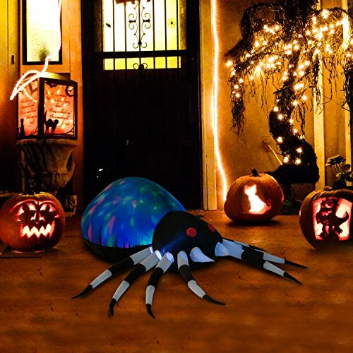 Outdoor Air-blown Giant Spooky Spider Halloween Inflatable by The Holiday Aisle