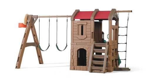 88.5 x 147 Adventure Lodge Play Center Swing Set by Step2