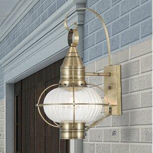 Great choice Elmhurst 1-Light Outdoor Wall Lantern By Breakwater Bay