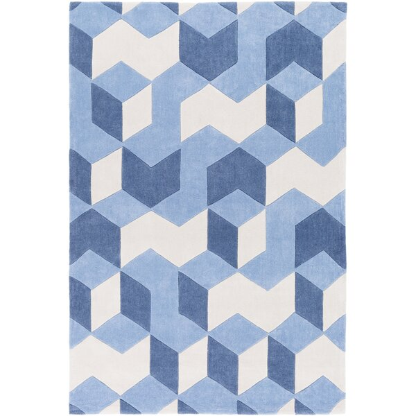 Conroy Hand-Tufted Blue Area Rug by Wrought Studio