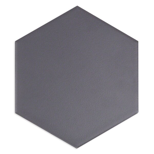 Bethlehem Hexagon 6 x 7 Ceramic Field Tile in Grafito by Splashback Tile