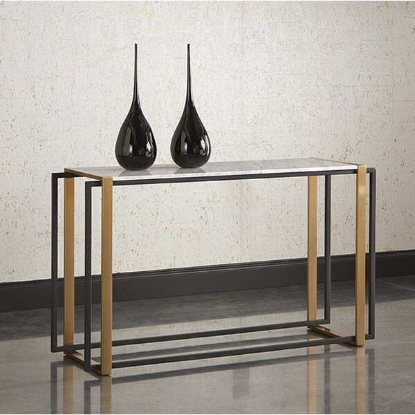Review Wythe Marble Console Table