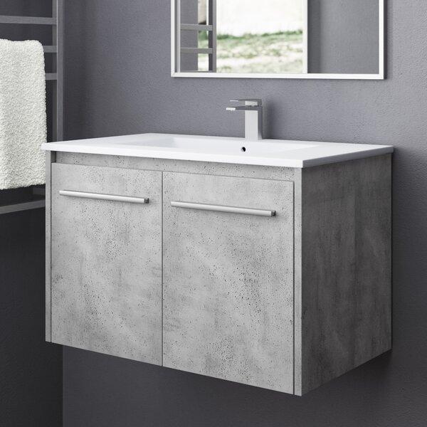 Lanza 30 Wall-Mounted Single Bathroom Vanity Set