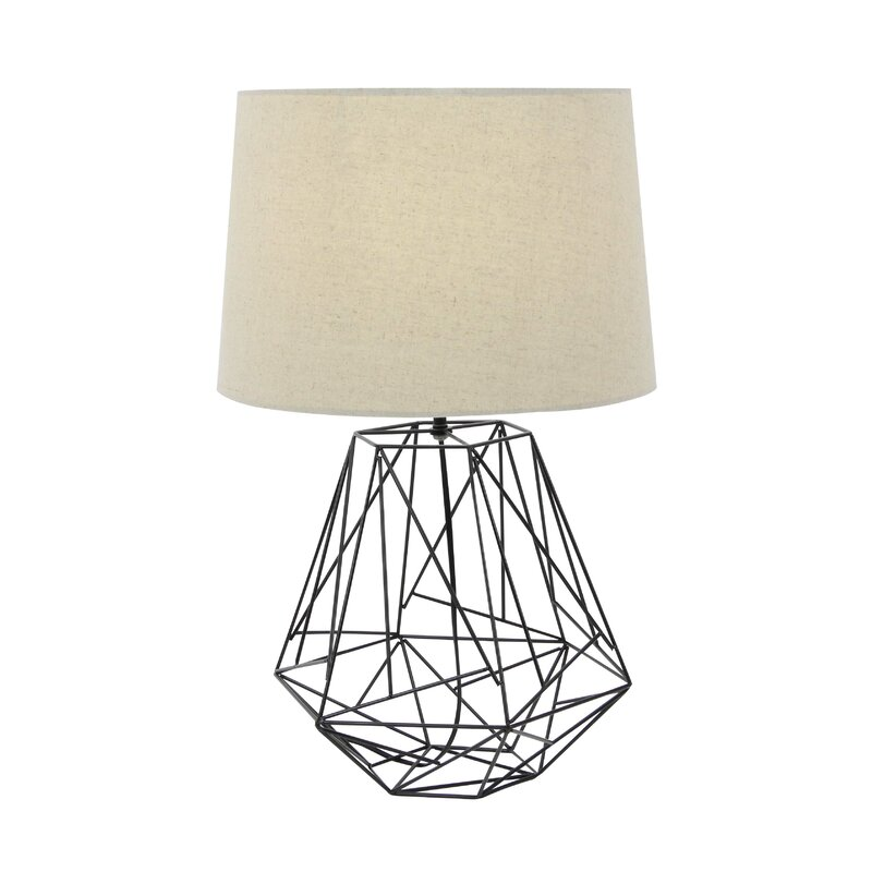 Wire table lamp wire center cole grey metal wire 25 table lamp reviews wayfair rh wayfair com wire table lamp nz wire cage table lamp keyboard keysfo Images